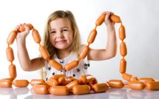 Колбаса детям: какую можно и с какого возраста