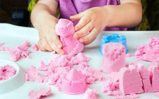 Как сделать кинетический песок для ребенка своими руками