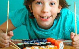 Как готовить суши и роллы для детей