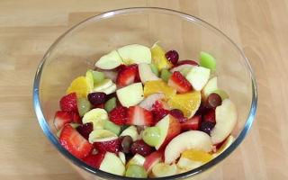 Рецепты фруктовых салатов для детей с фото