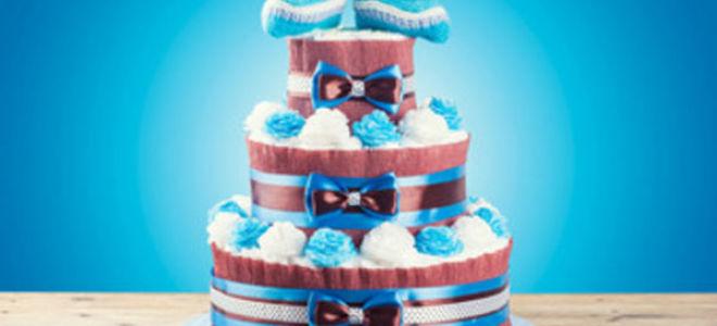 Торт из памперсов своими руками: пошагово с фото