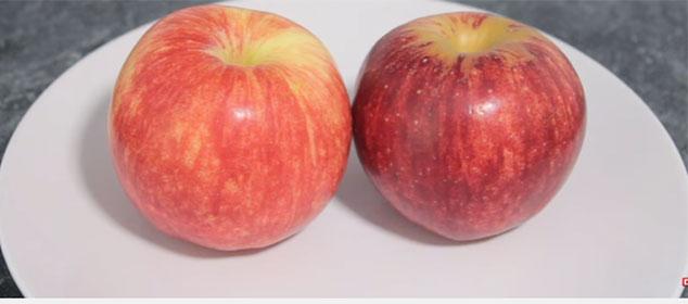 Яблоки на тарелке