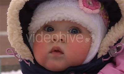 Красны щеки на морозе у ребенка