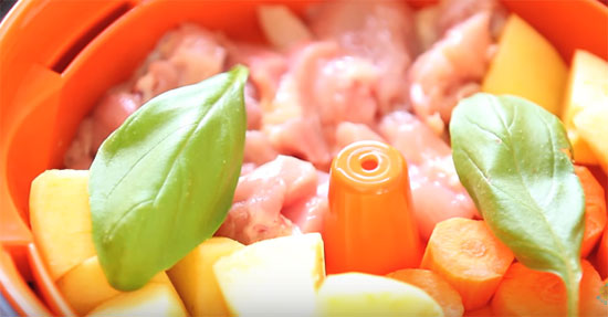 Мясо с морковкой в прикорм