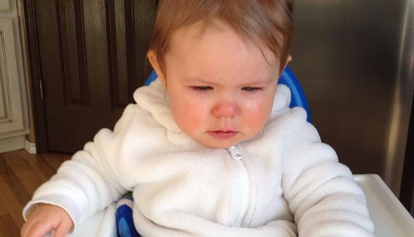 Малыш с гриппом