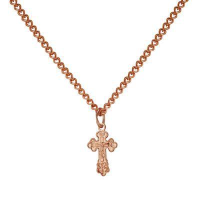 Золотой крестик с цепкой