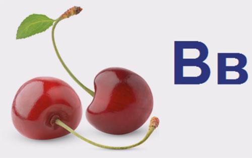 """Две вишни, рядом буквы """"Вв"""""""