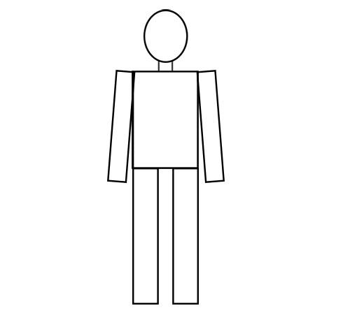 Голова, туловище, шея, руки и ноги
