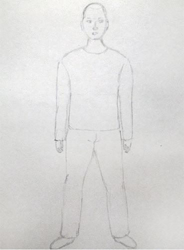 Нарисованный мужчина