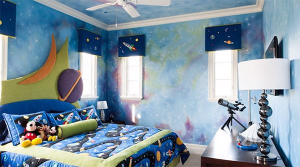 Комната, выполненная в космическом стиле
