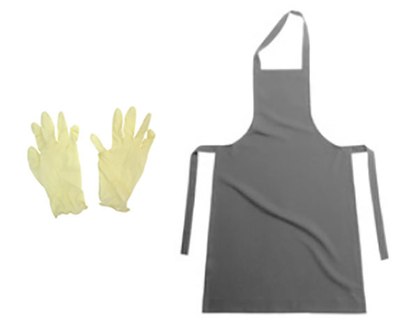 Фартук и перчатки
