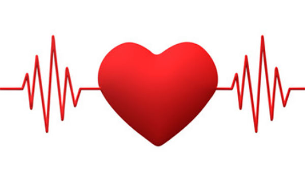 Картинка кардиограммы с сердцем посередине