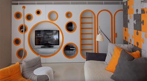 Комната в современном стиле.