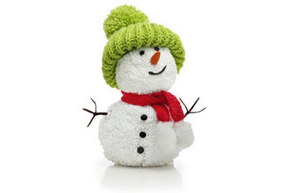 Тканевый снеговик, сделанный своими руками