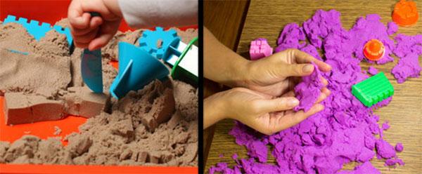 Песок домашнего приготовления и покупной