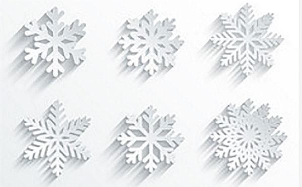 6 видов снежинок