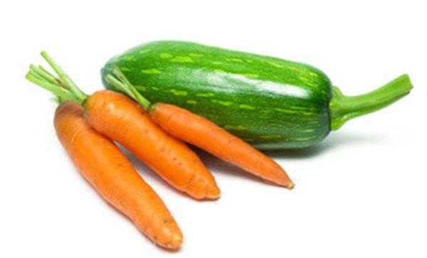 Морковки с кабачком