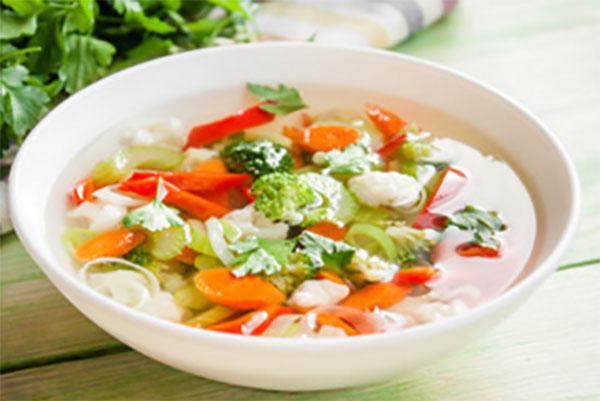 Тарелка овощного супа