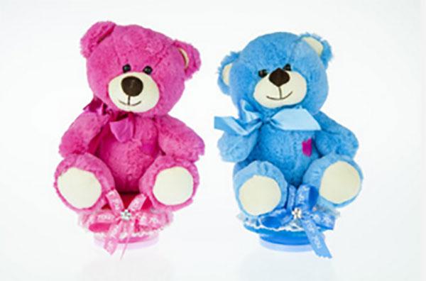 Музыкальные медведи: розовый и голубой