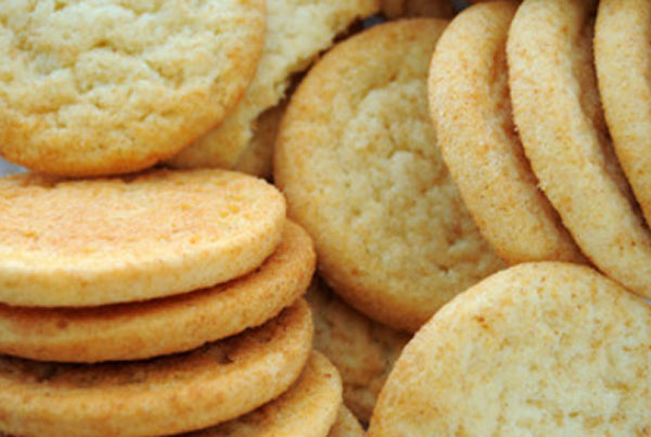Готовое печенье круглой формы
