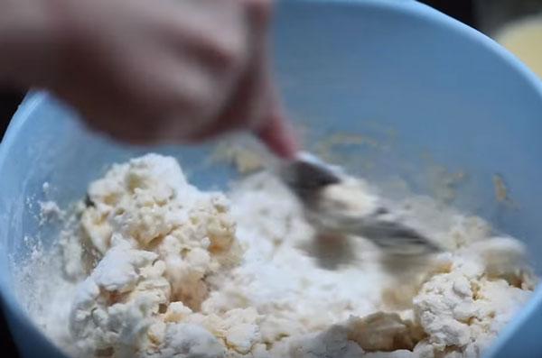 Мука перетертая с маслом