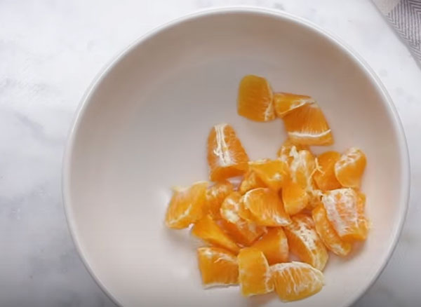 Измельченный мандарин