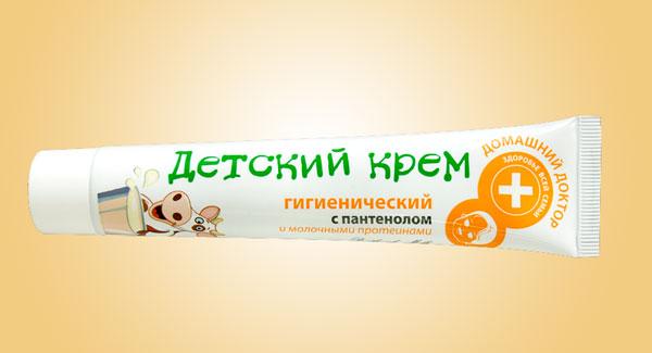 Тюбик детского крема