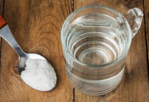 Стакан воды и ложка соды