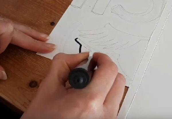 Раскрашивание ресниц