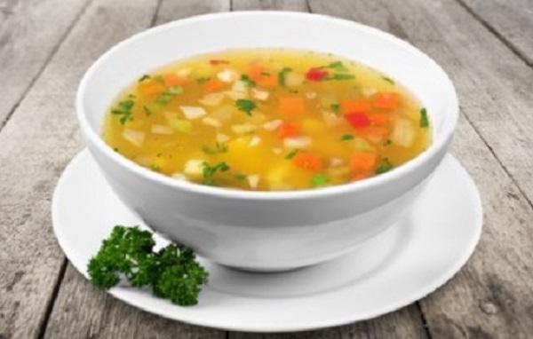 Готовый овощной суп