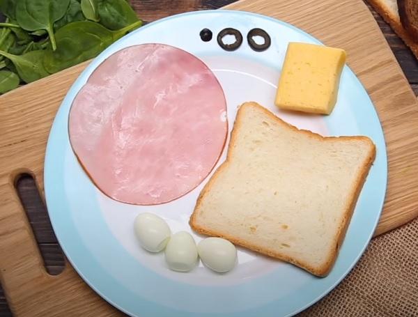 """Компоненты для бутерброда """"собачка"""""""