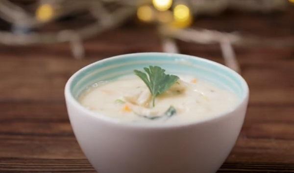 Готовый кремовый суп